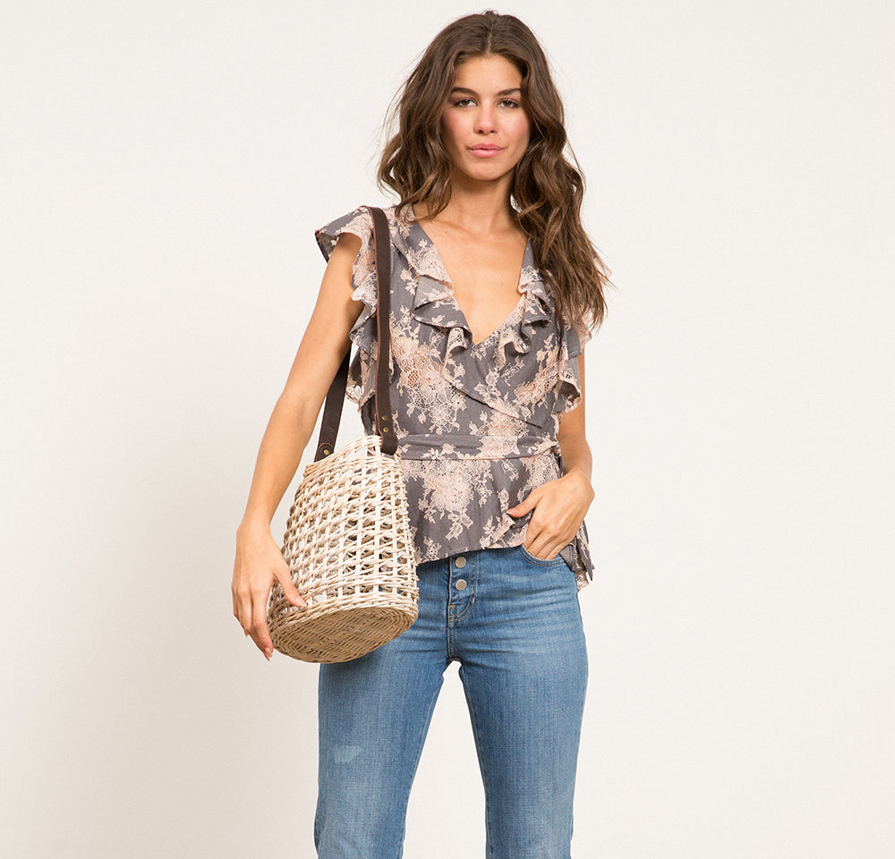 Cyra Lace Wrap Top