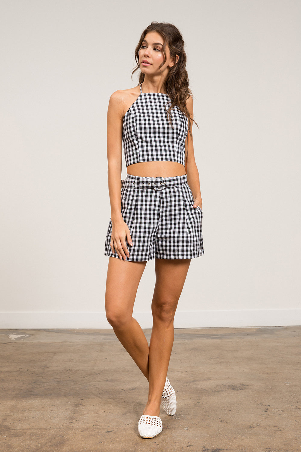 Rory Belted Gingham Shorts