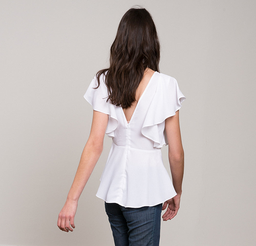 Maggy Ruffle Hi-Low Blouse