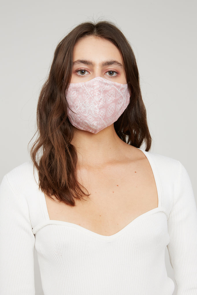 Bandana Face Mask - Light Pink