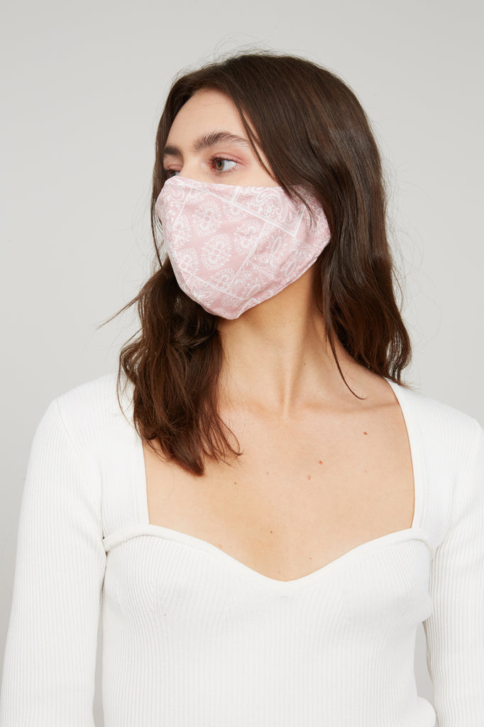 LUCY PARIS - Bandana Face Mask - Light Pink