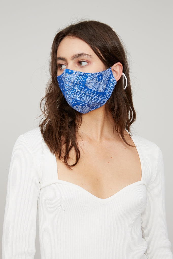 Bandana Face Mask - Blue