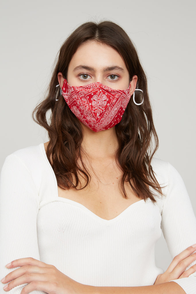Bandana Face Mask - Red
