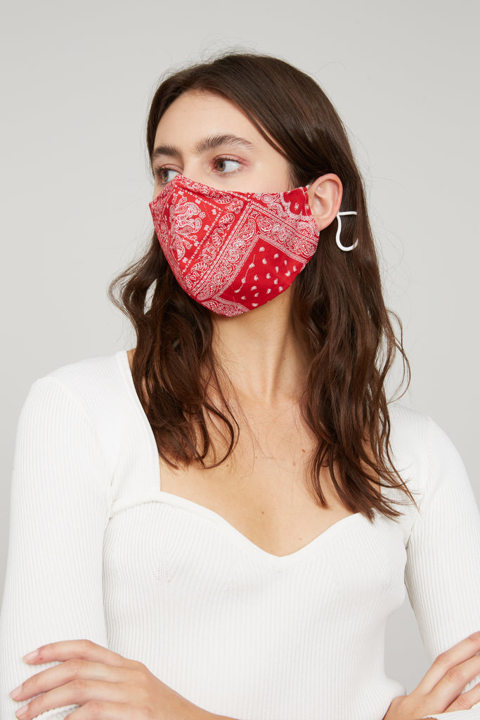 LUCY PARIS - Bandana Face Mask - Red