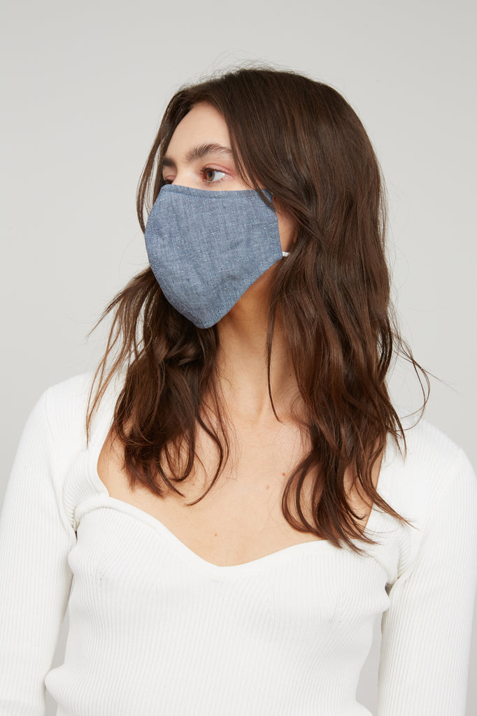 LUCY PARIS - Denim Face Mask