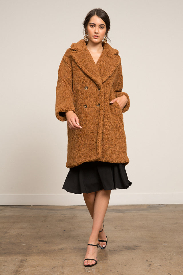LUCY PARIS - Jillian Teddy Coat