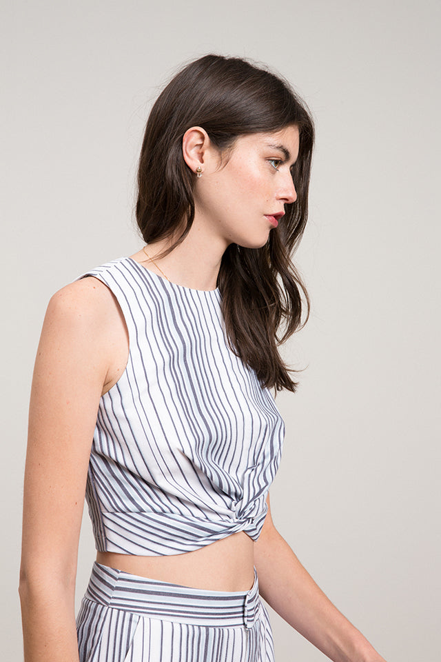 Noah Striped Twist Top