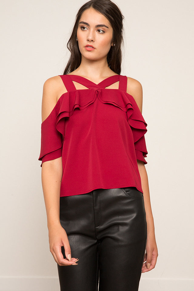 Lucy Paris- Victoria Cross Neck Top