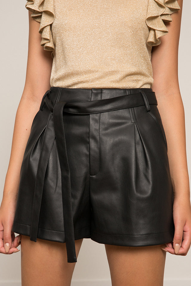 Alaina Faux Leather Short