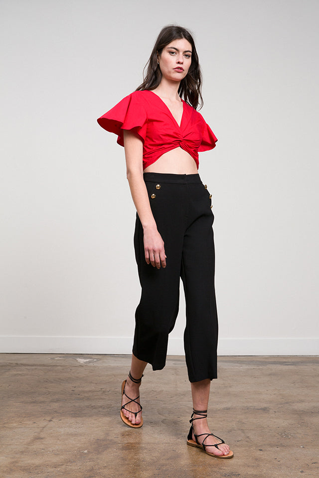 Gina Cropped  Cross Front Top