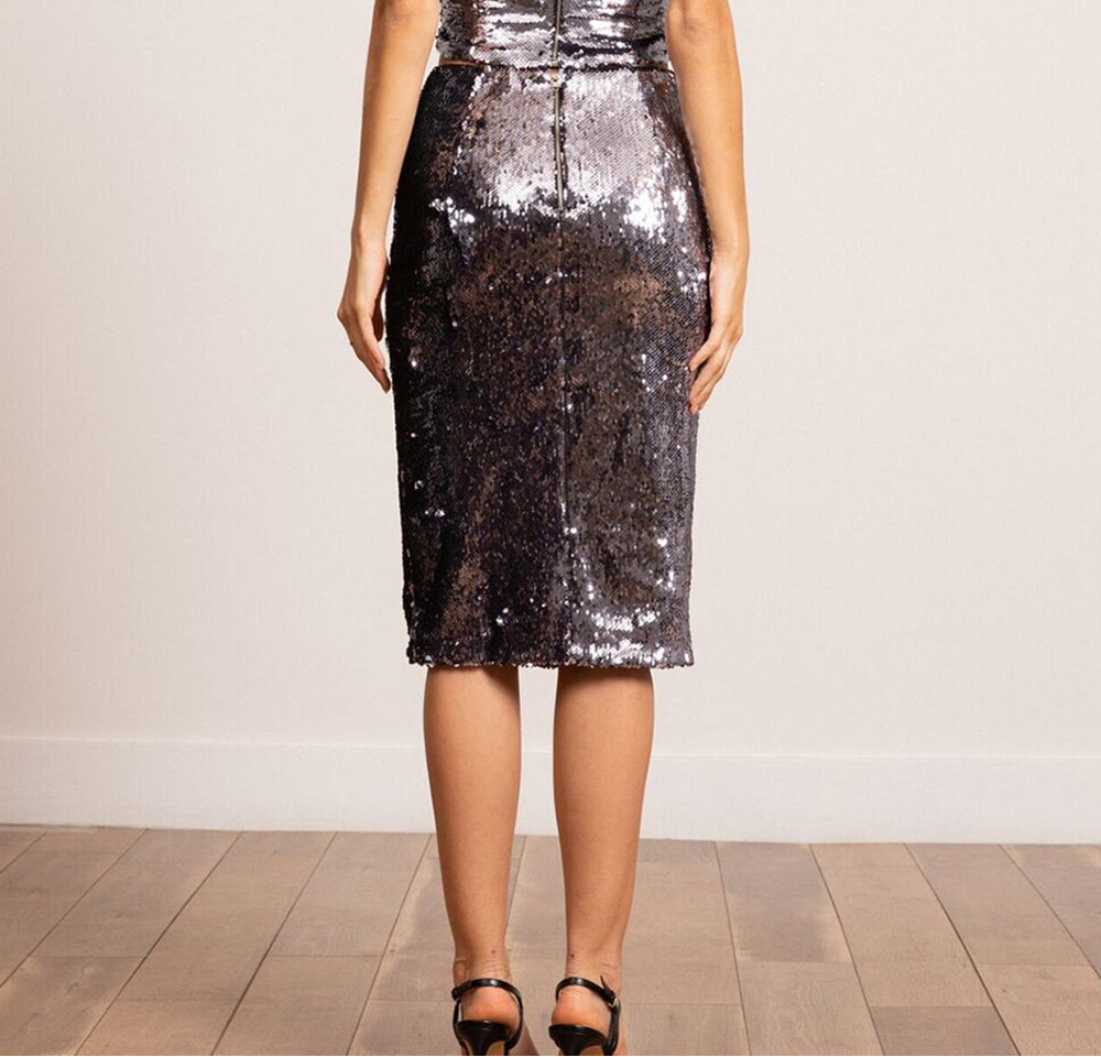 Jeanne Sequined Skirt
