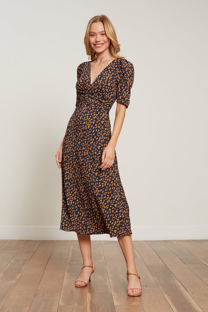 Alina Animal Print Dress