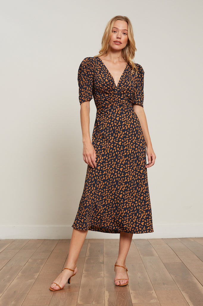LUCY PARIS - Alina Animal Print Dress