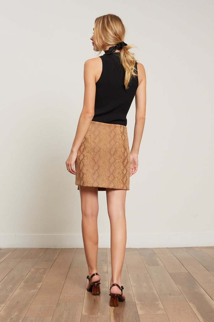 Chloe Snake Mini Skirt
