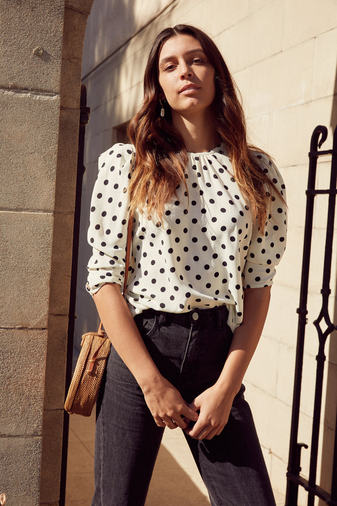 Mia Polka Dot Top