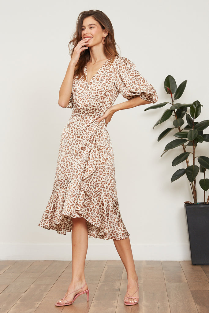 Abby Leopard Wrap Dress