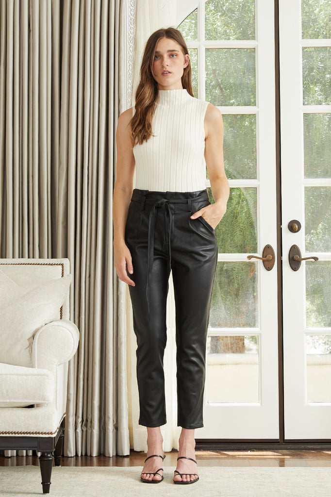 Alaina Faux Leather Pant