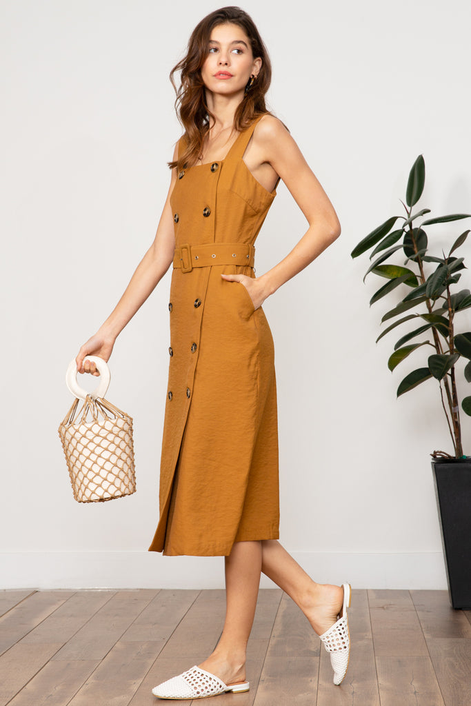 Amber Double Button Dress