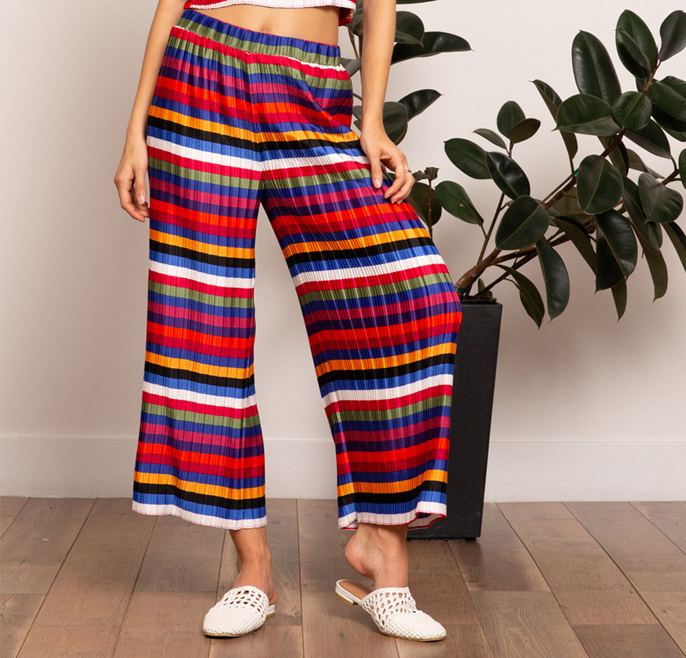 Aurora Rainbow Pleated Pant