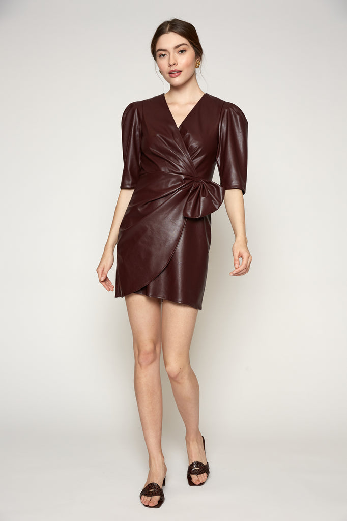 Lucy Paris - Alaina Faux Leather Dress