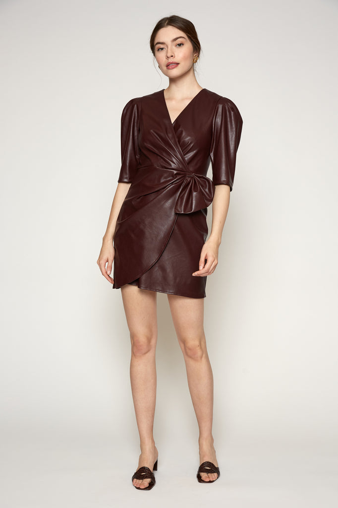 Alaina Faux Leather Dress