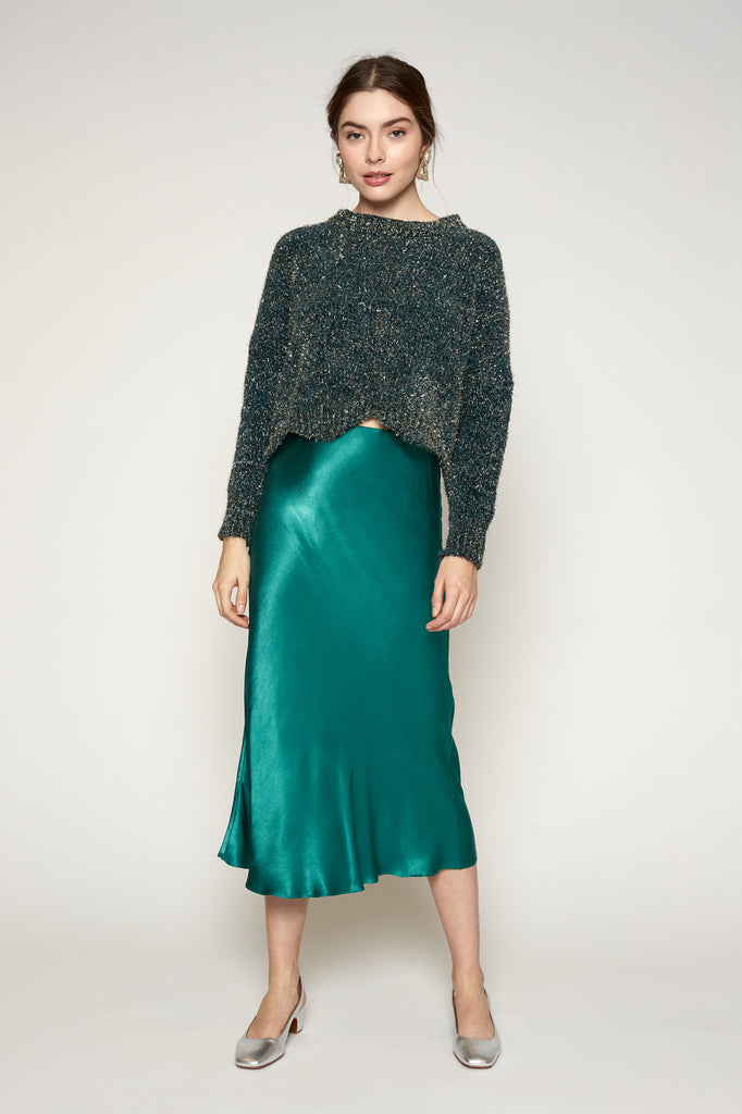 LUCY PARIS - Clarice Satin Skirt