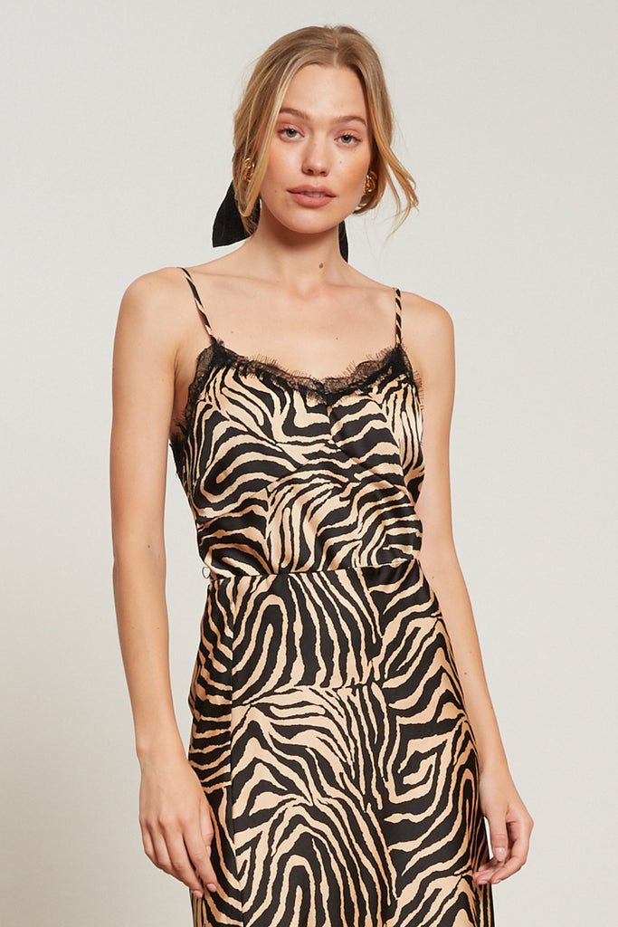 LUCY PARIS - Dakota Zebra Print Cami Top