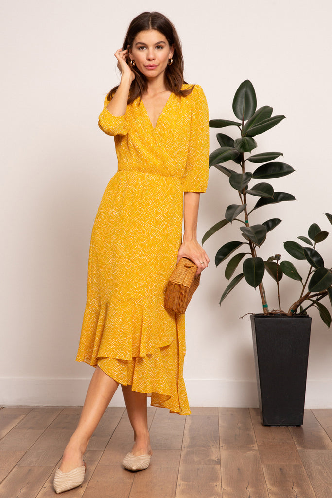 LUCY PARIS - Hayley Gathered Maxi
