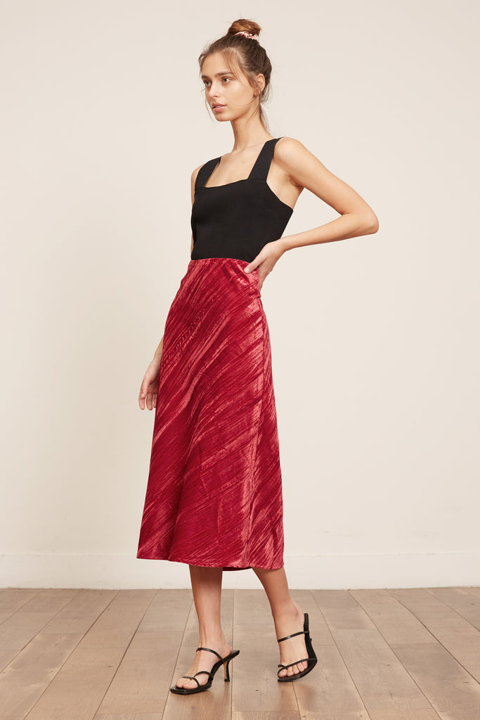 Holly Velvet Skirt