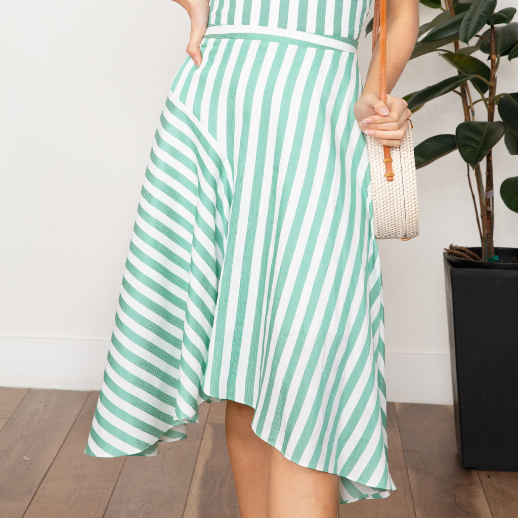 Indie Striped Skirt