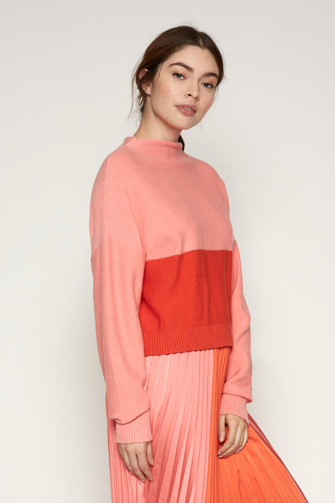 Janessa Color Block Sweater