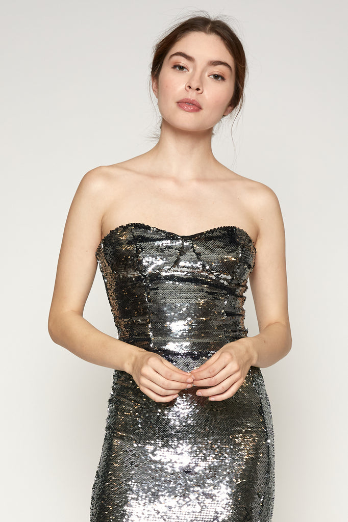Jeanne Sequined Bustier