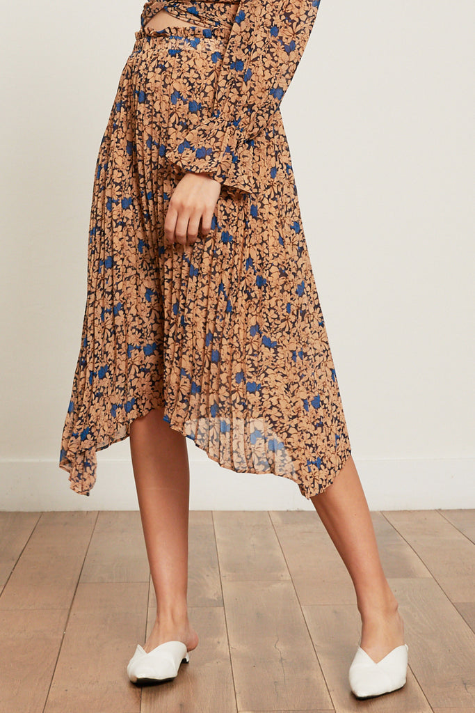 Kimberly Pleated Floral Skirt