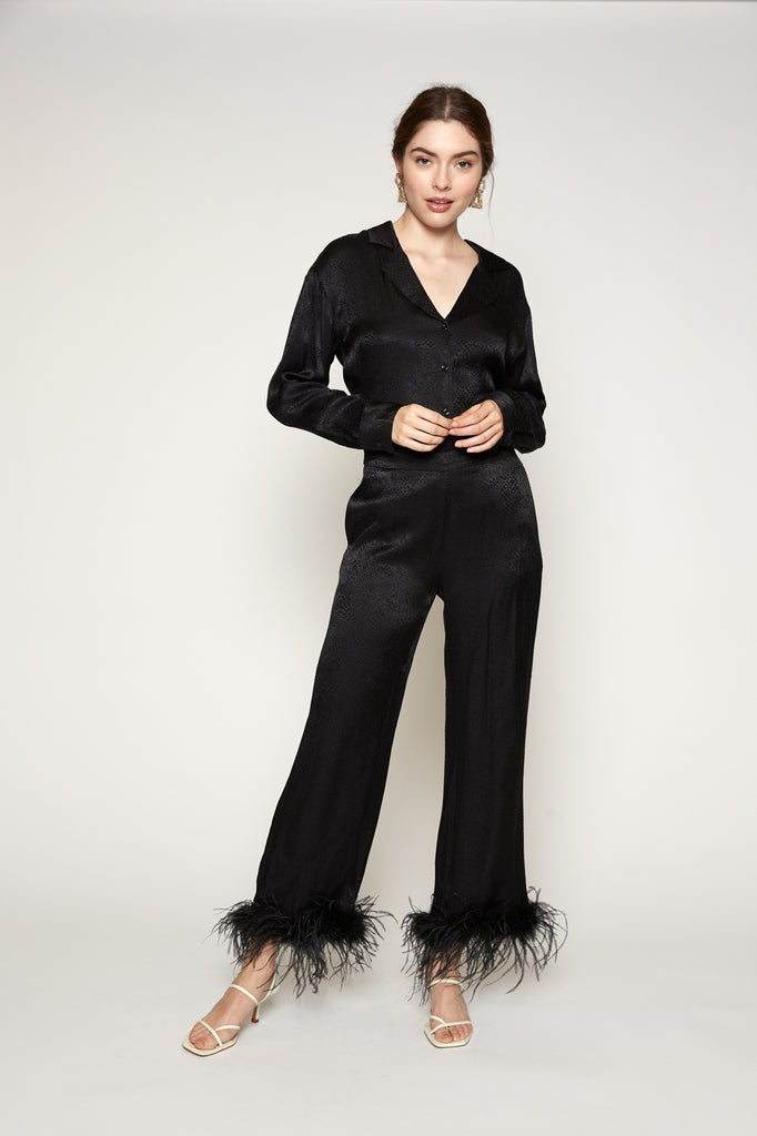 Louisa Feather Trim Pant