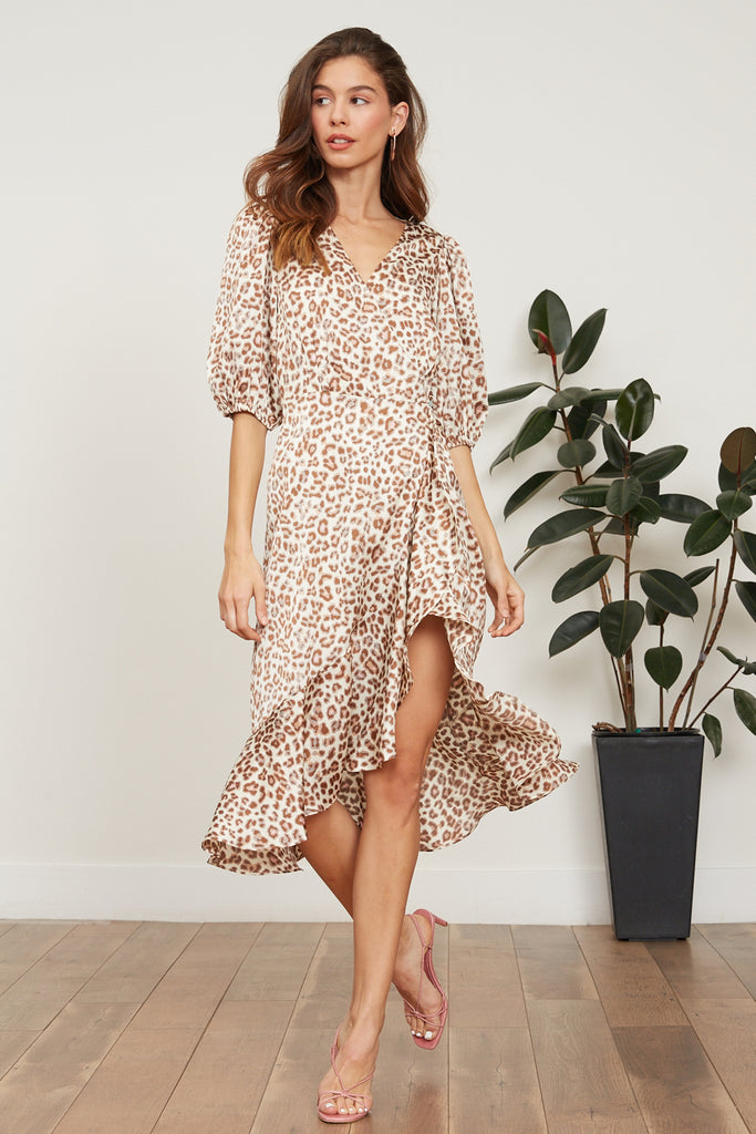 Lucy Paris - Abby Leopard Wrap Dress