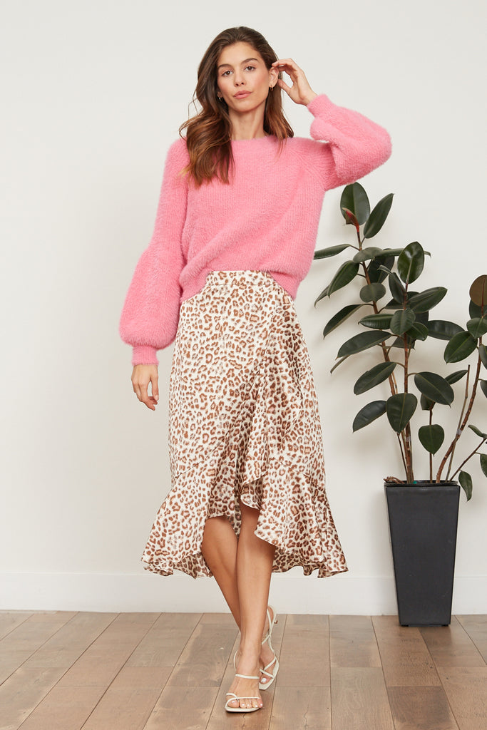 LUCY PARIS - Abby Leopard Skirt