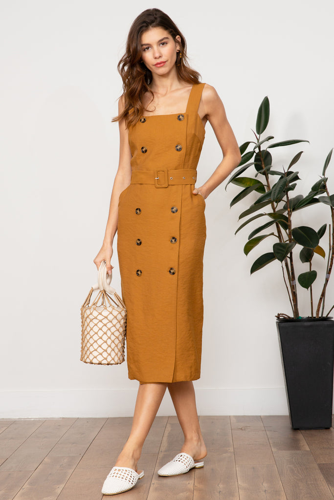 LUCY PARIS - Amber Double Button Dress