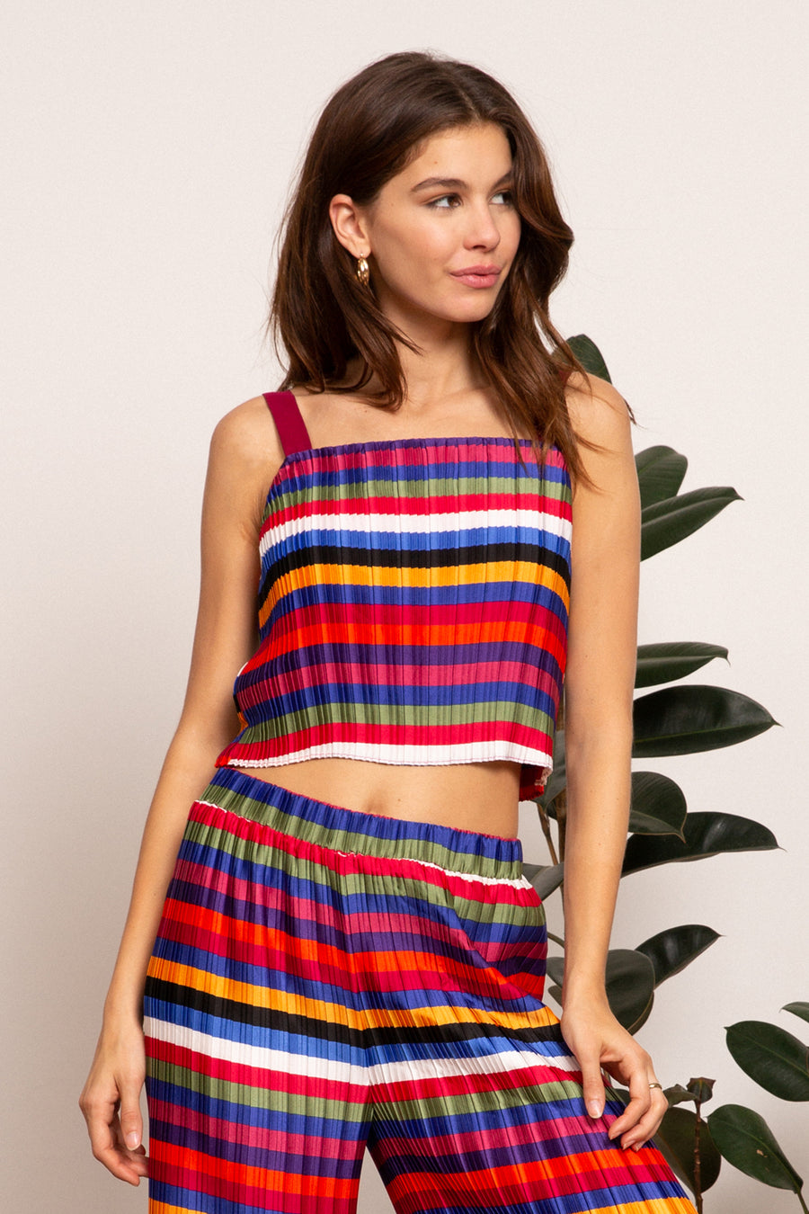 LUCY PARIS - Aurora Rainbow Crop Top
