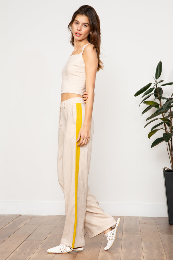 Lucy Paris - Blake Yellow Line Pant