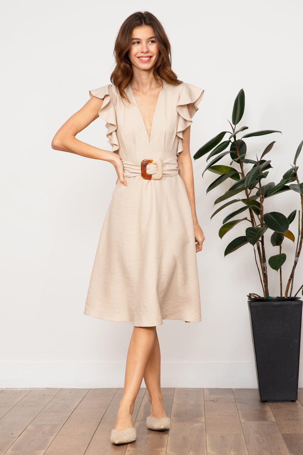 LUCY PARIS - Celeste Belted Dress