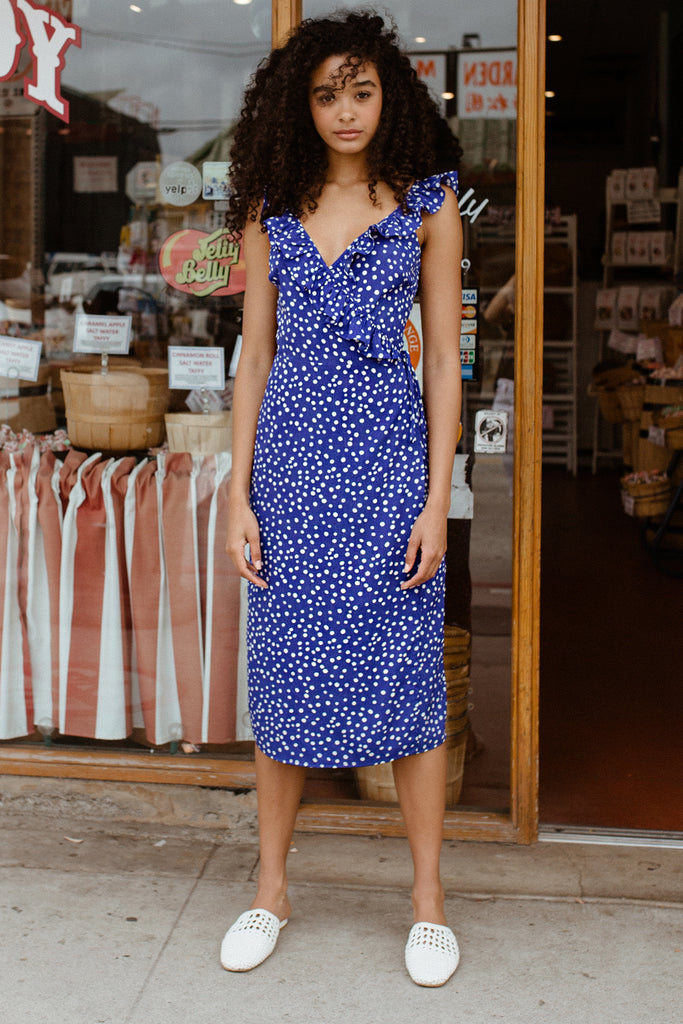 Claudia Polkadot Dress