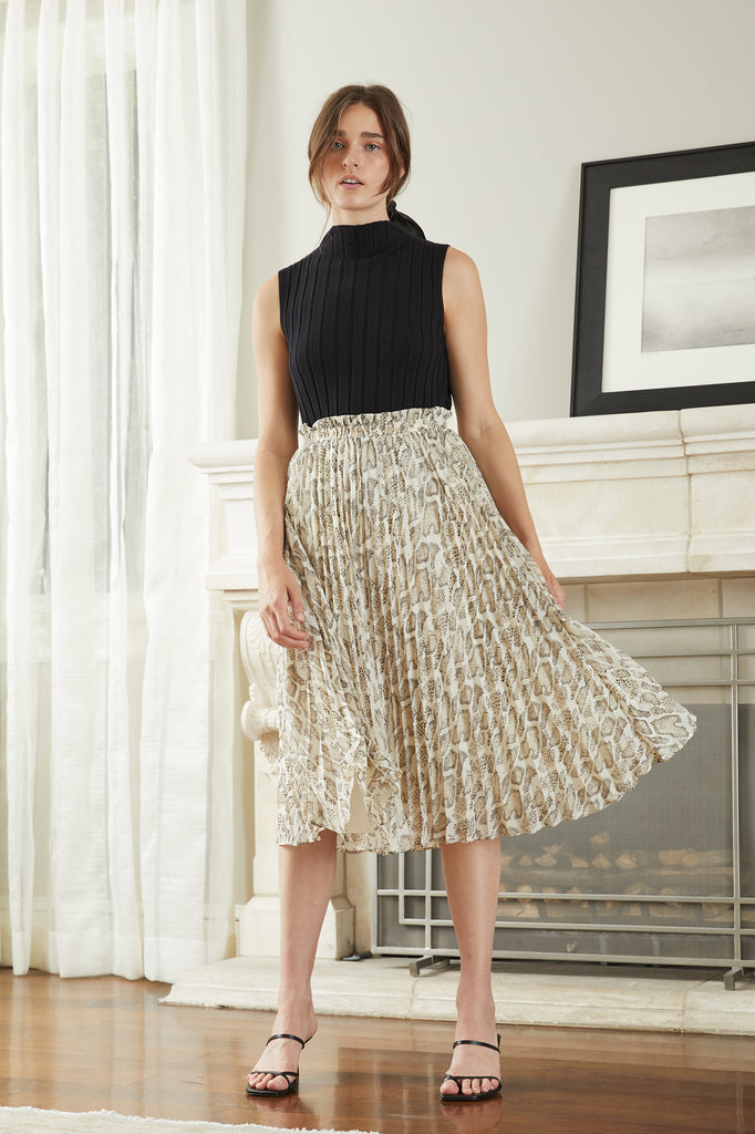 Lucy Paris - Cosette Pleated Skirt