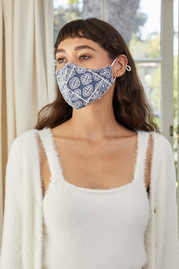 Bandana Face Mask - Denim