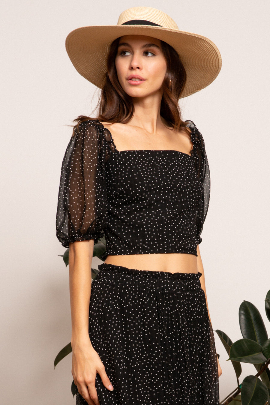 LUCY PARIS - Dorothy Gathered Crop Top