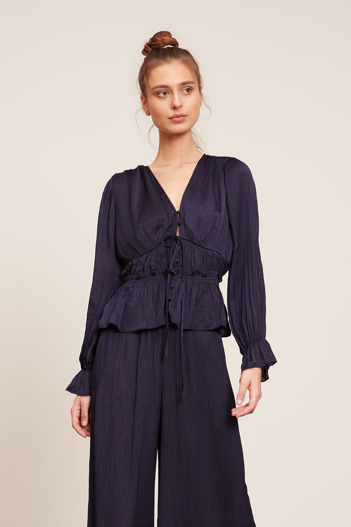 LUCY PARIS - Dylan Pleated Blouse