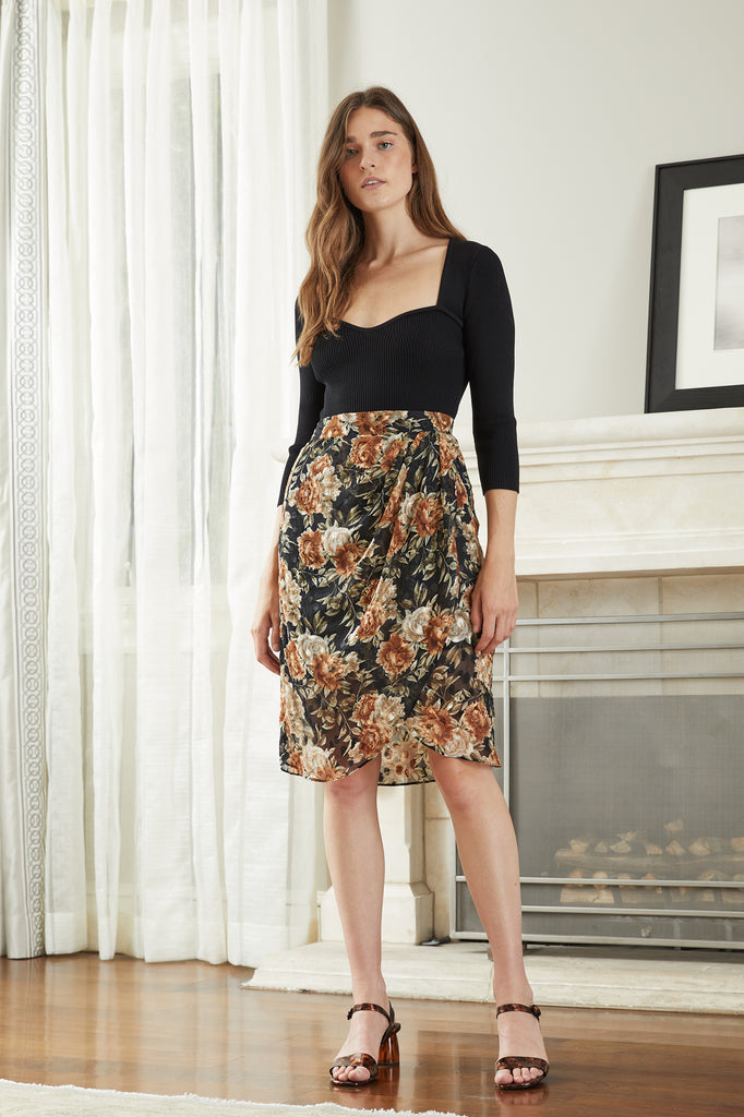 LUCY PARIS - Florence Floral Skirt