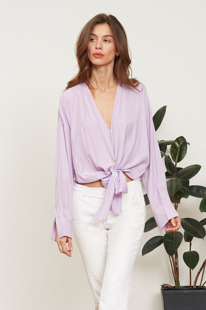 LUCY PARIS - Gloria Wrap Top - Lavender