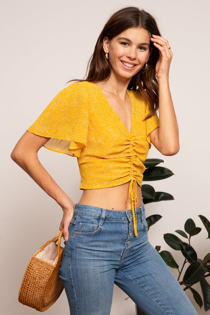 LUCY PARIS - Hayley Gathered Top