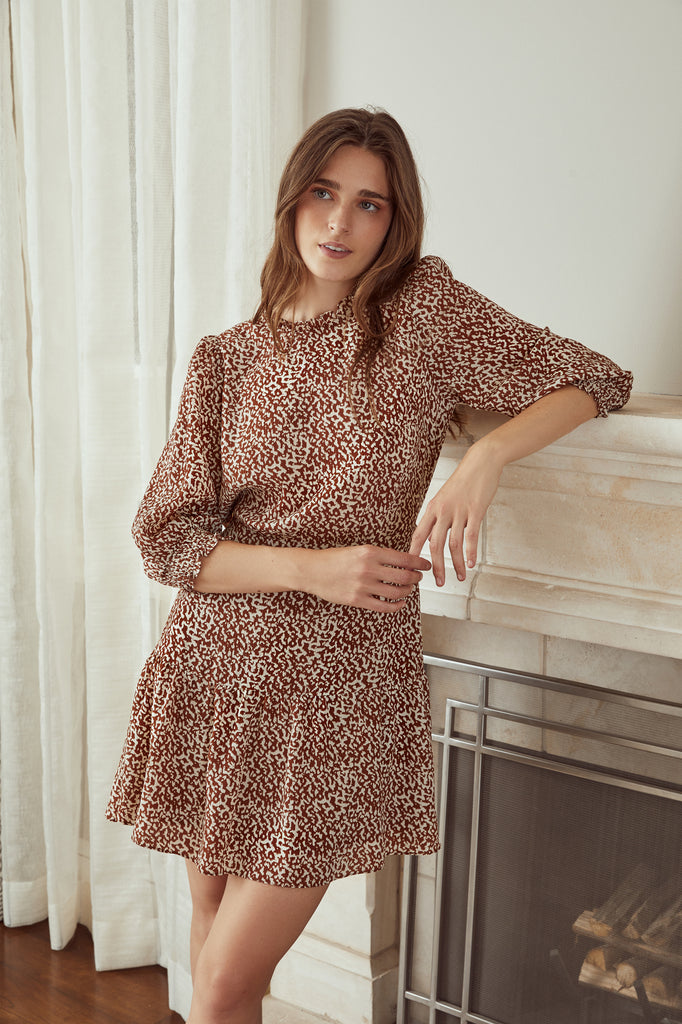 LUCY PARIS - Heidi Animal Print Dress