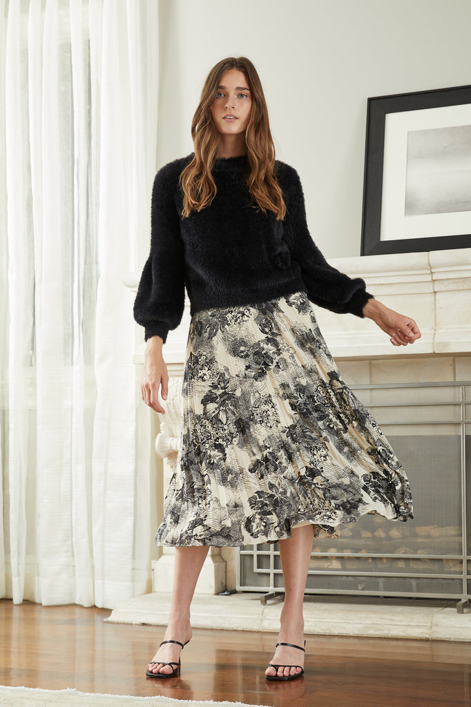 Lucy Paris - Helene Printed Skirt